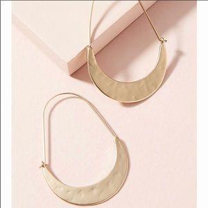 NWT Anthropologie crescent hoop earrings